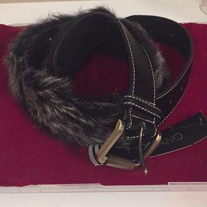Fun fur black belt
